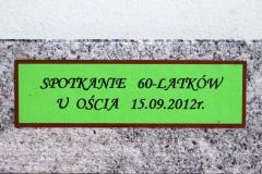 SPOTKANIE 60-LATKÓW U OŚCIA 15.09.2012r